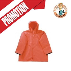 VESTE CIRE * FISHERMENS ORANGE S